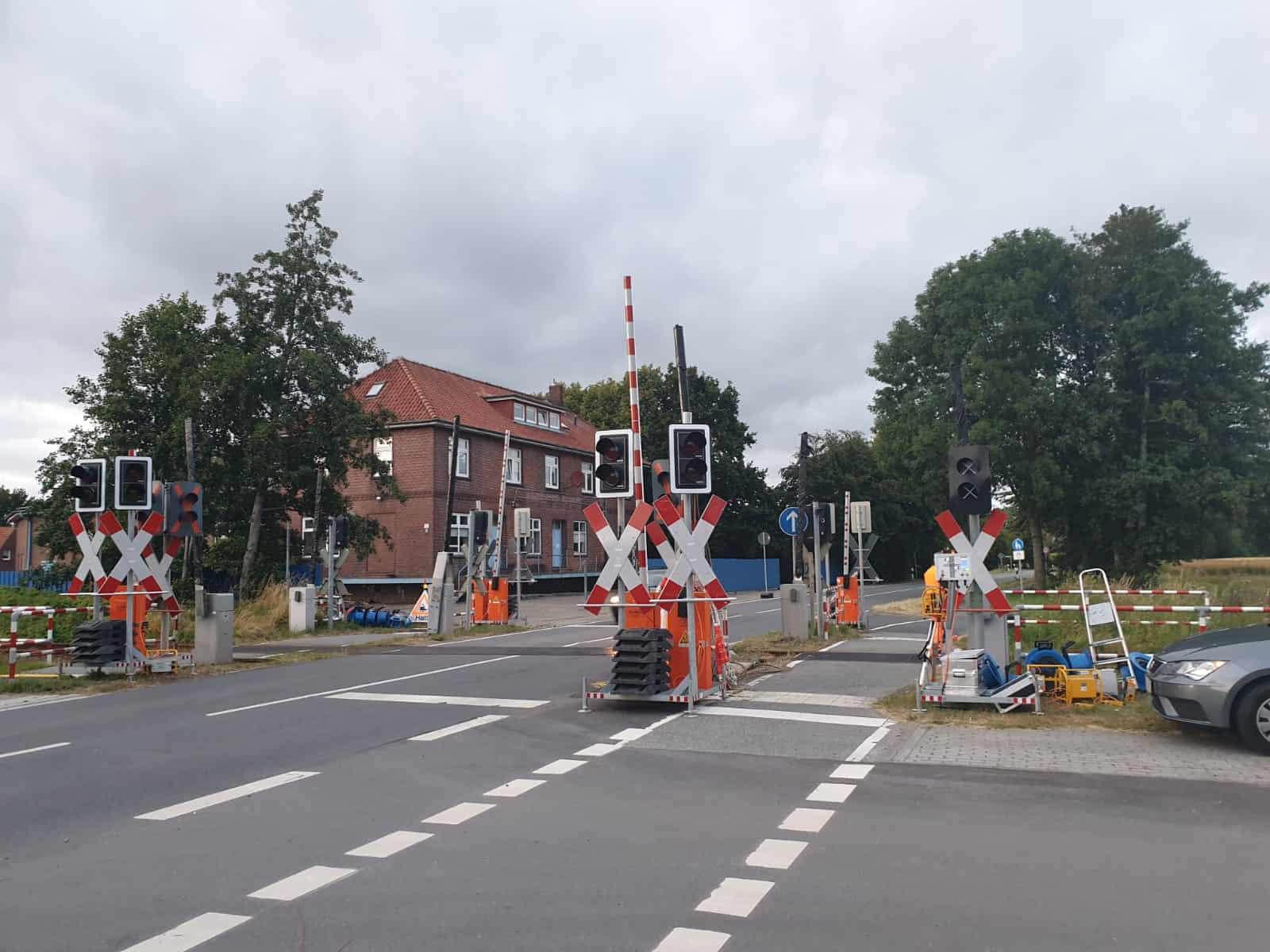 Mobile Bahnübergangsanlage